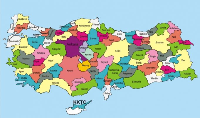 Türkiye Başkenti, Şehirleri ve Bölgeleri