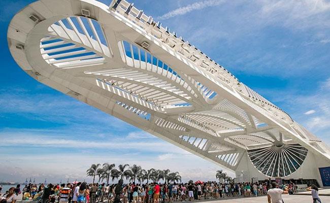 Brezilya'da Rio De Janeiro'daki Yarın Müzesi