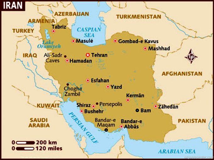 İran Başkenti, Şehirleri ve Bölgeleri