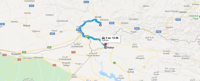 Şırnak'tan Irak'a Nasıl Gidilir