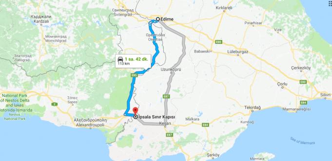 Edirne'den Yunanistan'a (İpsala Sınır Kapısı) Nasıl Gidilir
