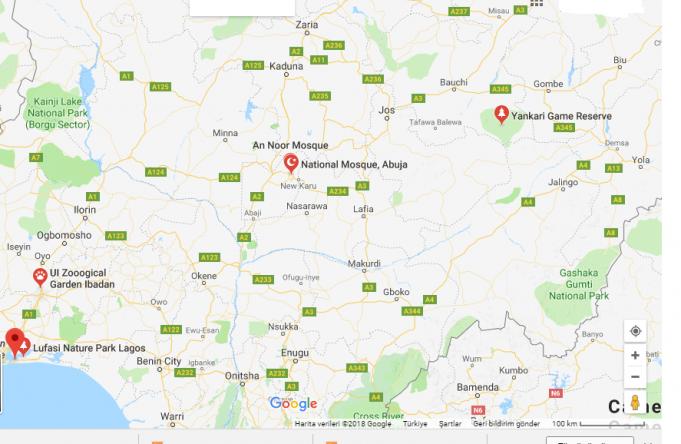 Nijerya Başkenti, Şehirleri ve Bölgeleri