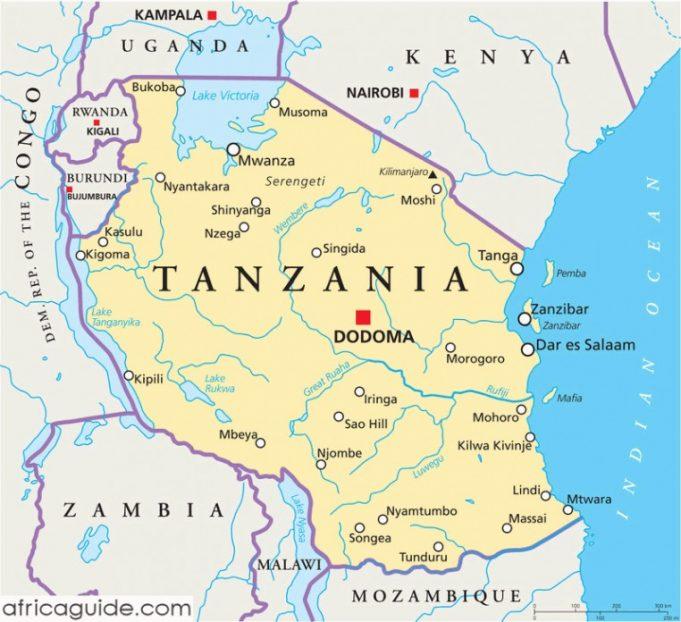 Tanzanya Başkenti, Şehirleri ve Bölgeleri