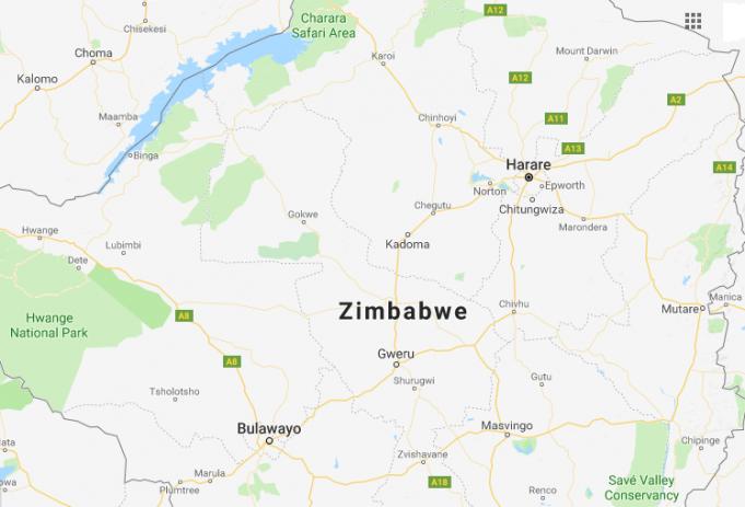 Zimbabve'nin başkenti, şehirleri ve bölgeleri