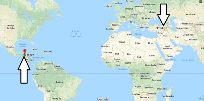 Belize Nerededir