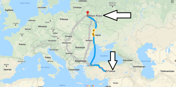 Beyaz Rusya (Belarus) Nerede