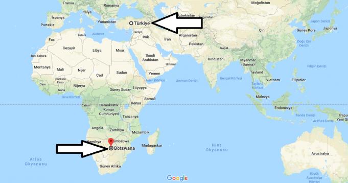 Botsvana Nerede