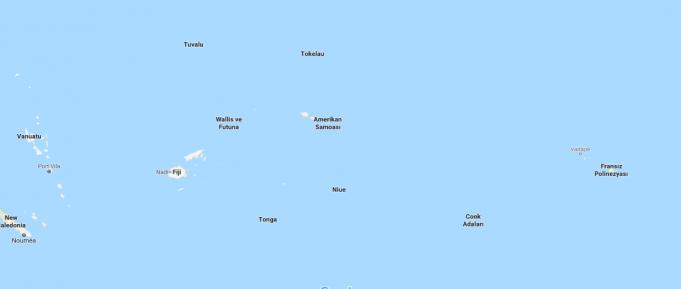 Cook Adaları Nerededir