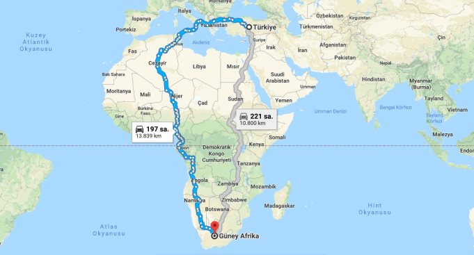 Güney Afrika Cumhuriyeti Nerededir