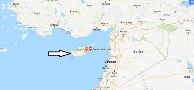 Güney Kıbrıs Nerededir