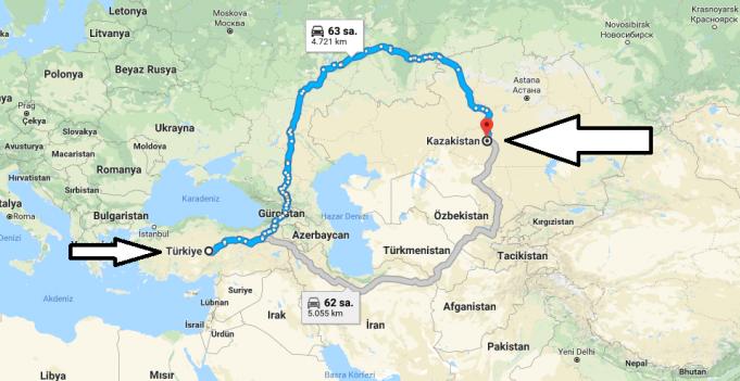 Kazakistan Nerededir