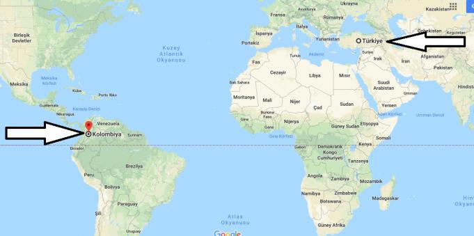 Kolombiya Nerededir