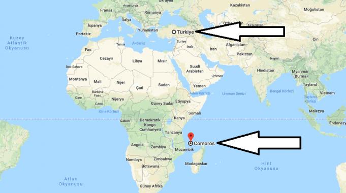 Komor Adaları Nerededir