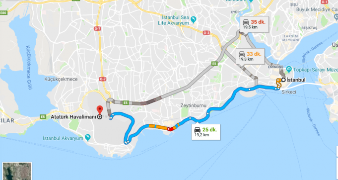İstanbul'da Havaalanına Nasıl Gidilir?