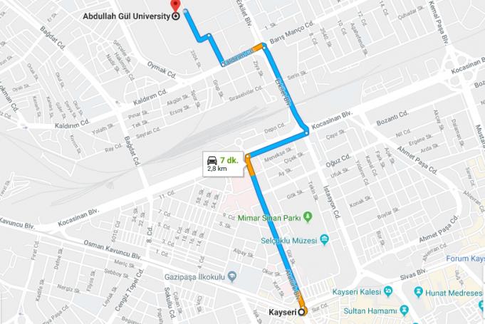 Abdullah Gül Üniversitesi Nerede, Nasıl Gidilir ve Hangi Şehirde