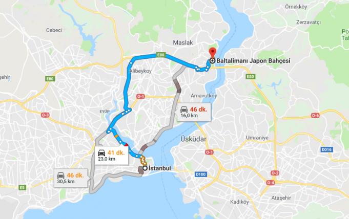 Baltalimanı Japon Bahçesi Nerede, Nasıl Gidilir?