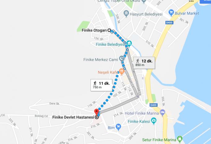 Finike Devlet Hastanesi Nerede, Nasıl Gidilir?