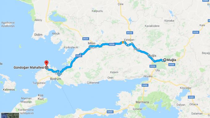 Gündoğan Nerede, Nasıl Gidilir?