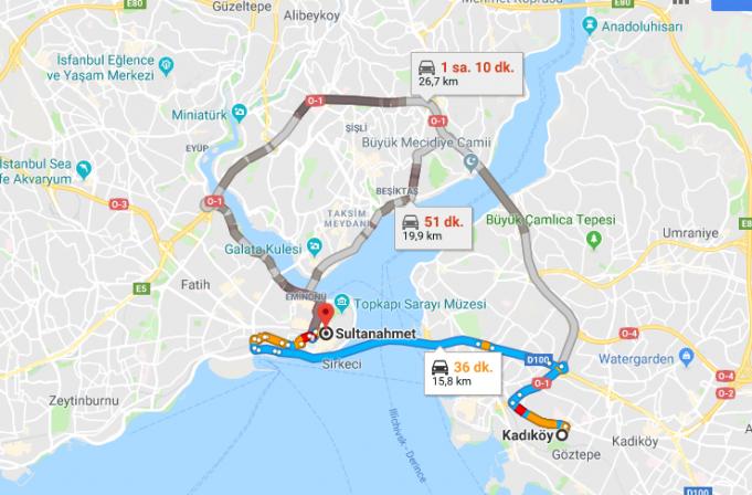Kadıköy'den Sultanahmet'e Nasıl Gidilir?
