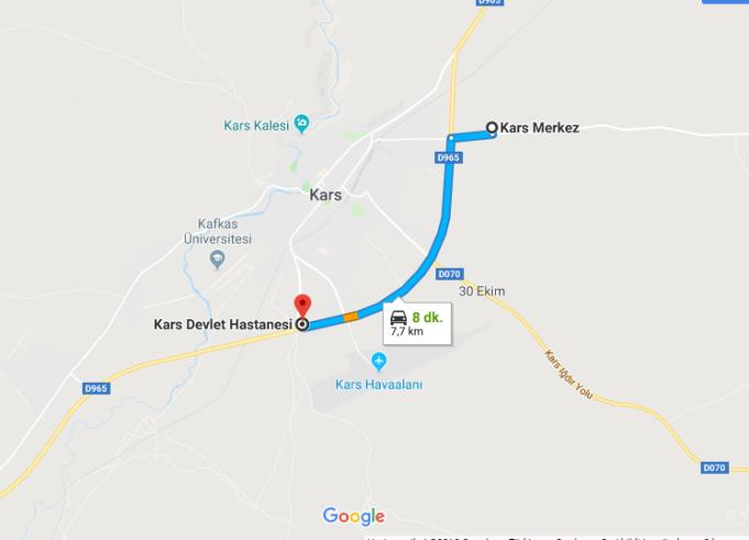 Kars Harakani Devlet Hastanesi Nerede, Nasıl Gidilir?