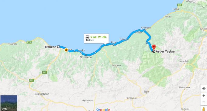 Trabzon'dan Ayder Yaylası'na Nasıl Gidilir?