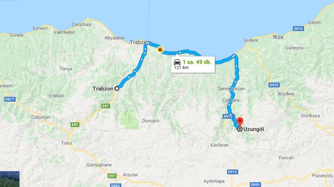 Trabzon'dan Uzungöl'e Nasıl Gidilir?