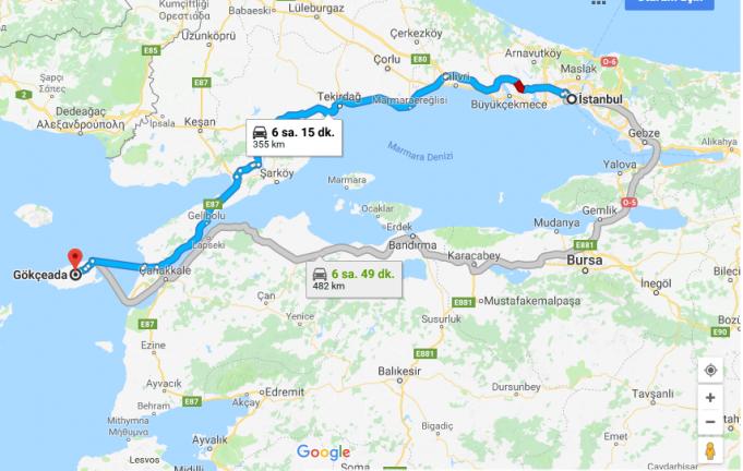 İstanbul'dan Gökçeada'ya Nasıl Gidilir?