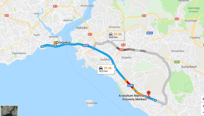 Anatolium Marmara AVM Nerede, Nasıl Gidilir?