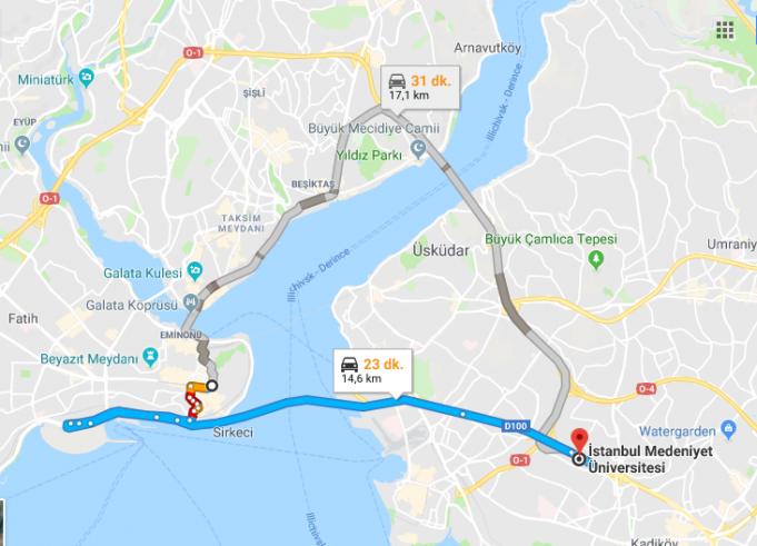İstanbul Medeniyet Üniversitesi Nerede, Nasıl Gidilir?