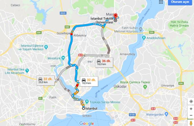 İstanbul Teknik Üniversitesi Nerede, Nasıl Gidilir?