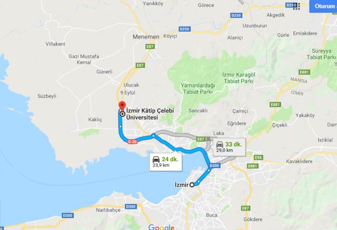 İzmir Kâtip Çelebi Üniversitesi Nerede, Nasıl Gidilir?