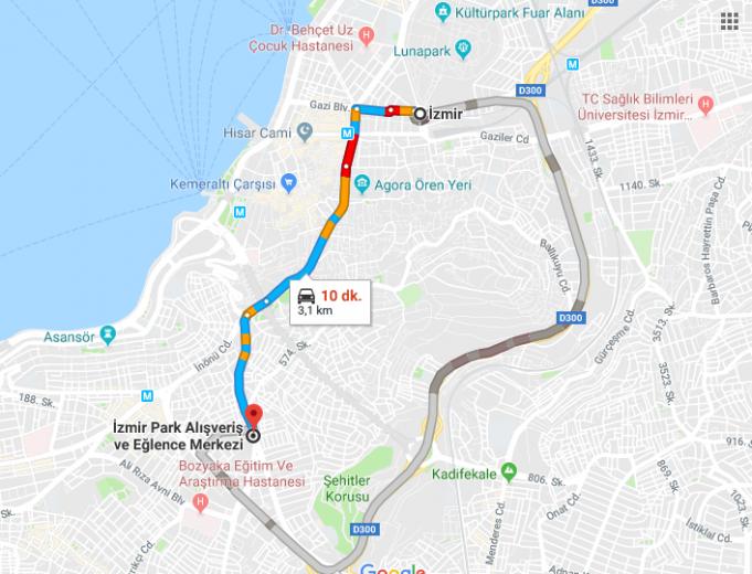 İzmir Park Avm Nerede, Nasıl Gidilir