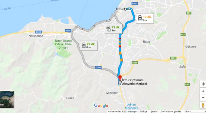 Optimum İzmir /Outlet Nerede, Nasıl Gidilir?
