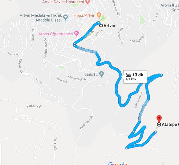 Artvin Atatepe Nerede, Nasıl Gidilir?