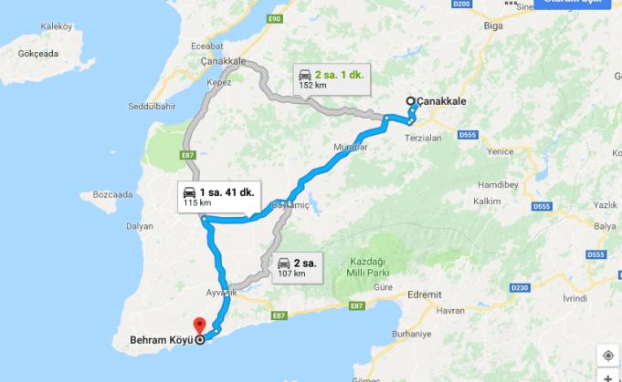 Behramkale Köyü Nerede, Nasıl Gidilir?