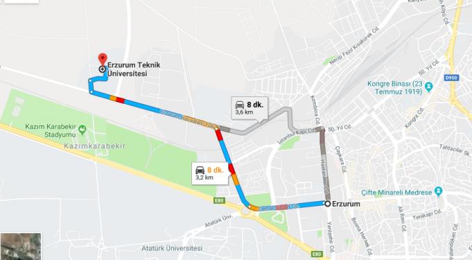 Erzurum Teknik Üniversitesi Nerede, Nasıl Gidilir?