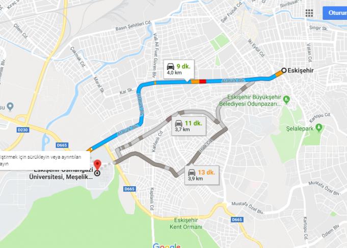 Eskişehir Osmangazi Üniversitesi Nerede, Nasıl Gidilir?