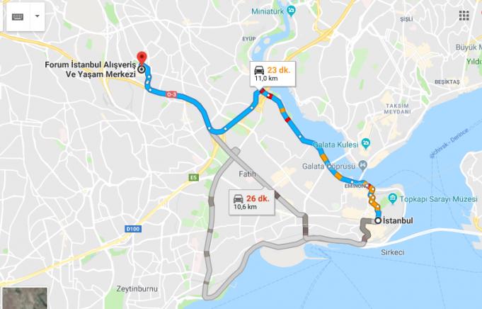 Forum İstanbul AVM Nerede, Nasıl Gidilir?