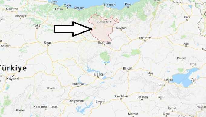 Gümüşhane Nerede, Hangi Bölgede ve Nüfusu