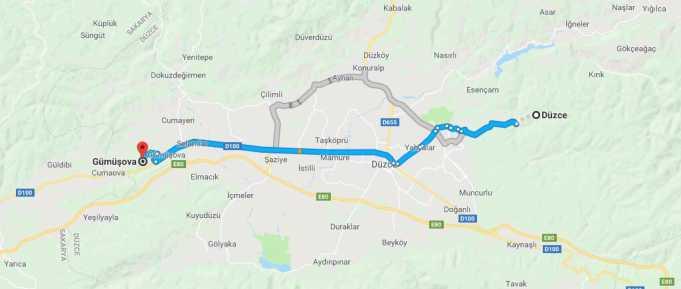 Gümüşova Nerede, Nerenin İlçesi ve Hangi Bölgede Şehirde