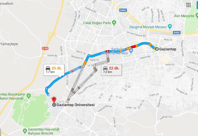 Gaziantep Üniversitesi Nerede, Nasıl Gidilir?