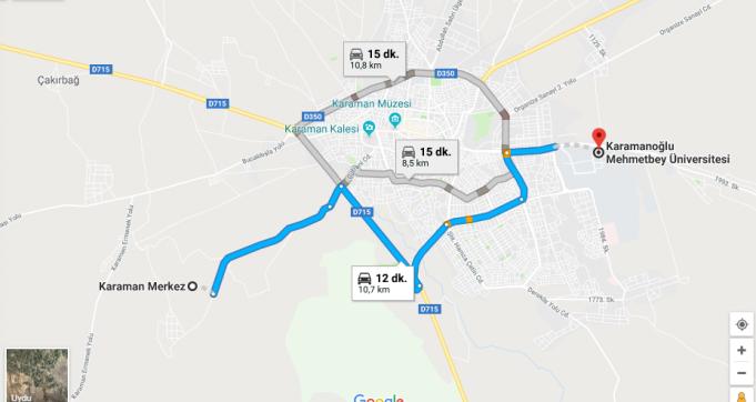 Karamanoğlu Mehmetbey Üniversitesi Nerede, Nasıl Gidilir?