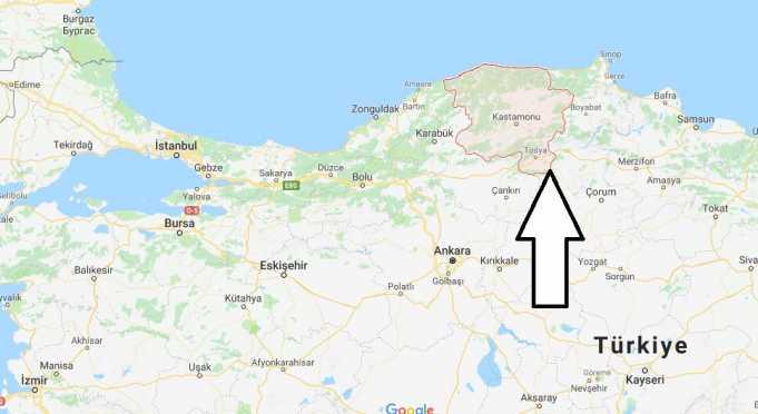 Kastamonu Hangi Bölgede, Haritası ve Nüfusu