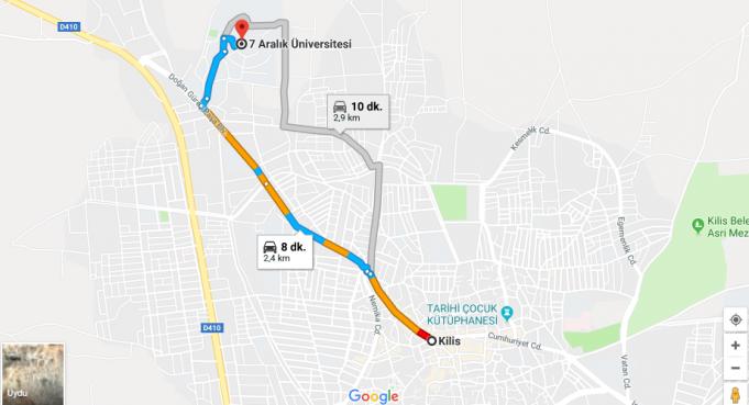 Kilis 7 Aralık Üniversitesi Nerede, Nasıl Gidilir?