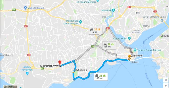 MetroPort AVM Nerede, Nasıl Gidilir?