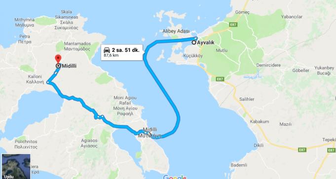 Midilli Adası Nerede, Nasıl Gidilir?