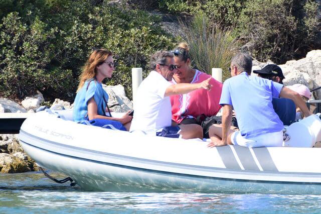 Nicholas Sarkozy ve eşi Carla Bruni yine ege Sahilleri seçti