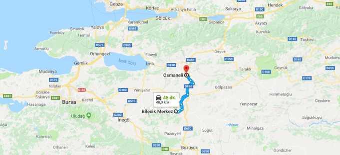 Osmaneli Nerede, Nerenin İlçesi ve Hangi Bölgede Şehirde