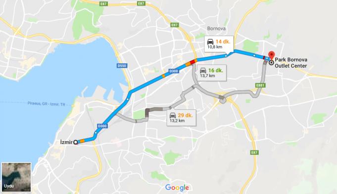 Park Bornova Outlet Center Nerede, Nasıl Gidilir?
