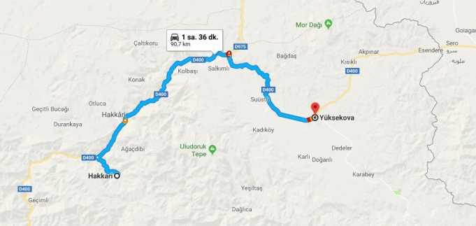 Yüksekova Nerede, Nerenin İlçesi ve Hangi Bölgede Şehirde